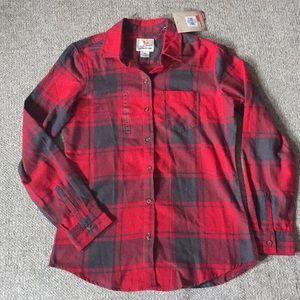 Field & Stream Red & Gray Plaid Shirt